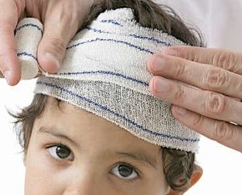 علاج جروح الرأس عند الاطفال